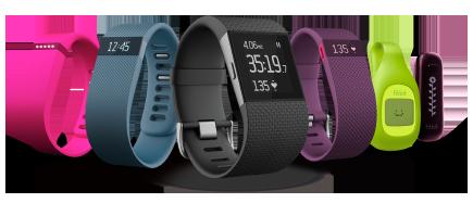 Seis modelos diferentes del smartwatch fitbit