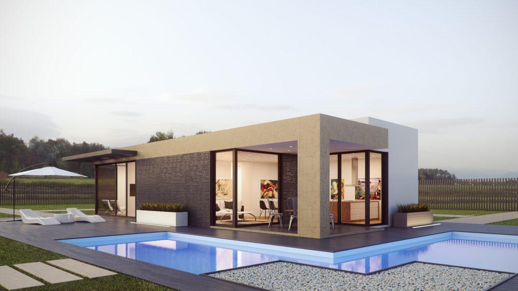 Casa muy moderna y minimalista con piscina