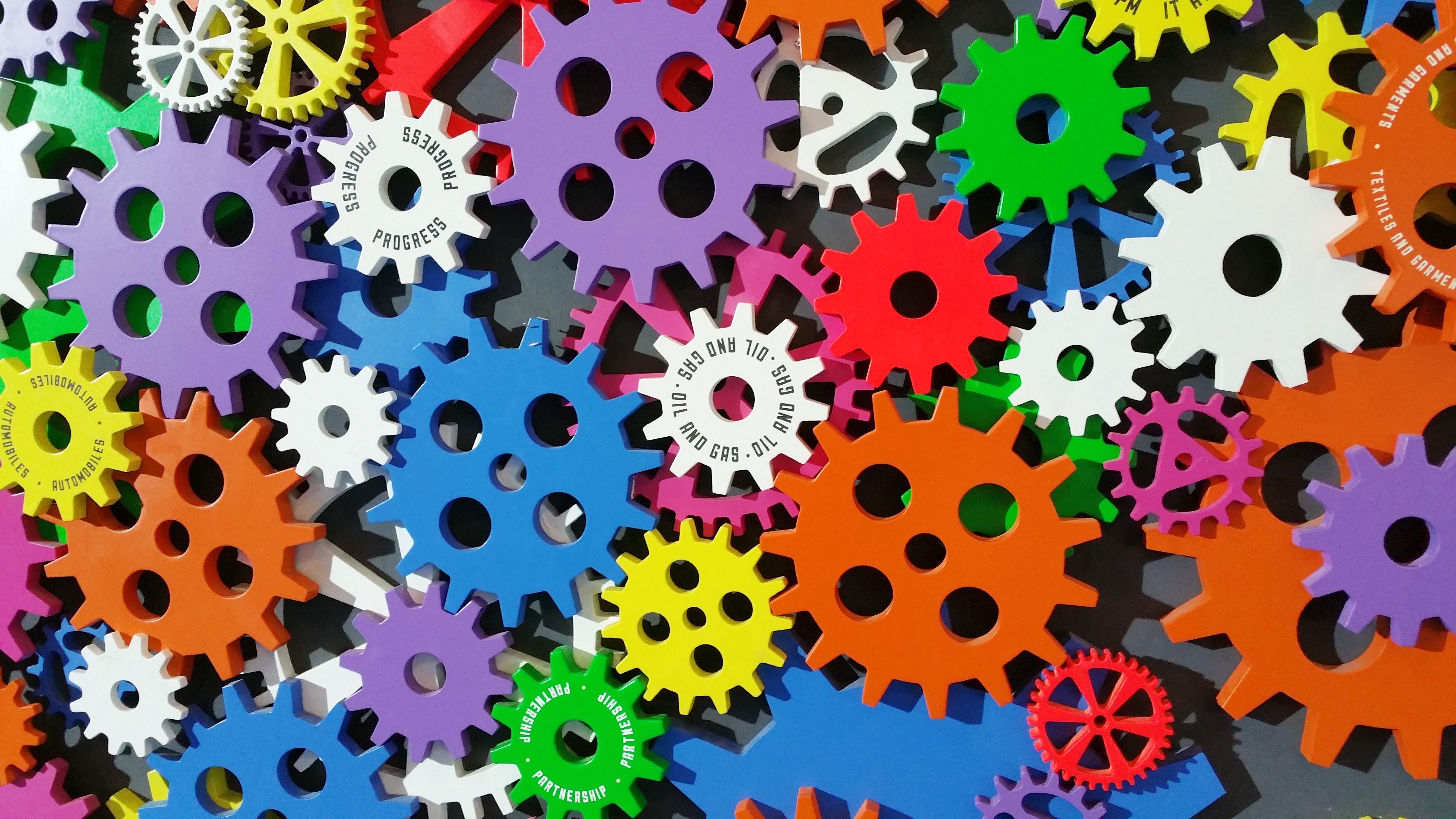 Engranajes de muchos colores