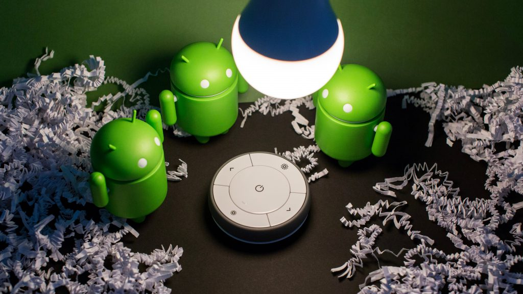 iconos de android con bombilla inteligente de ikea