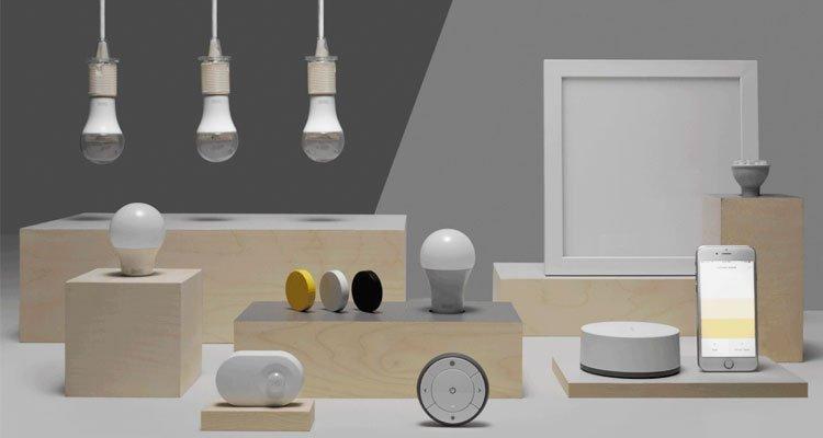 casa conectada con bombillas inteligentes de Ikea