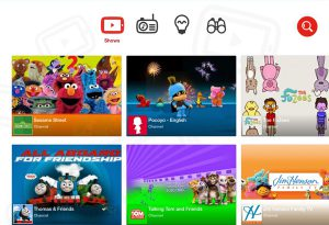 menu YouTube Kids foto