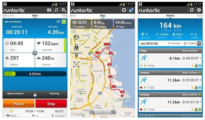 aplicaciones para smartwatch runtastic pro