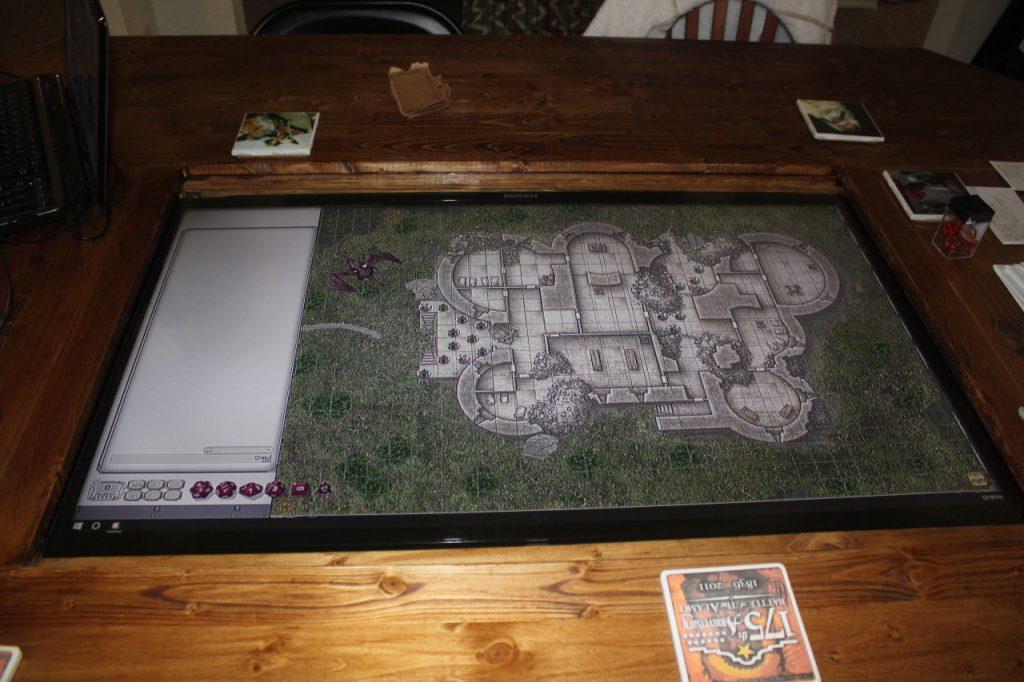 Así es el tablero de Dungeons and Dragons
