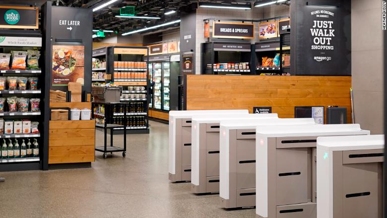Entrada al supermercado Amazon Go
