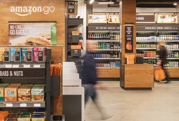 Interior del supermercado Amazon Go